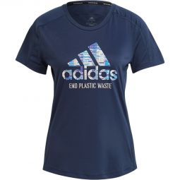 Womens adidas Run For The Oceans Running T-shirt