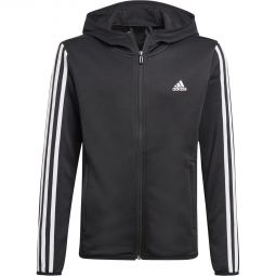 Kids adidas 3-stripes Full Zip Hood Training Jersey