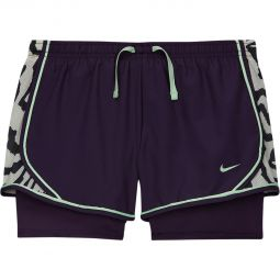 Kids Nike Dri Fit Tempo 2in1 Running Shorts