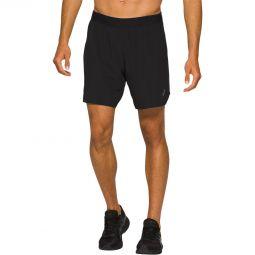 """Mens Asics Road 2-N-1 7"""" Running Shorts"""