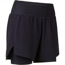 "Womens Asics Road 2in1 5"" Running Shorts"