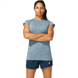 Womens Asics Race Seamless Running T-shirt