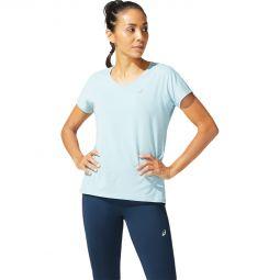 Womens Asics V Neck Running T-shirt